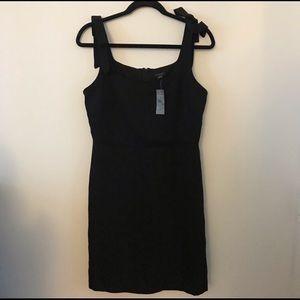 NWT Ann Taylor Black Bow Strap Sheath Dress